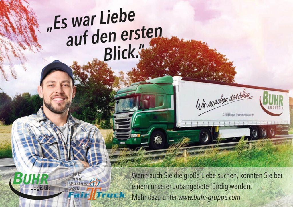 Job Fernfahrer Kraftfahrer Logistik Buhr Logistik